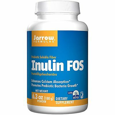 Inulin FOS - 180g Powder by Jarrow Formulas - Prebiotic Soluble Fibre - Vegan