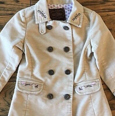 Old Navy Girls Toddler Tan Pea Coat Jacket Lined 3T