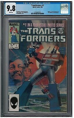 TRANSFORMERS #1-#4 SET CGC 9.8 (9/84-3/85) MARVEL COMICS white pages