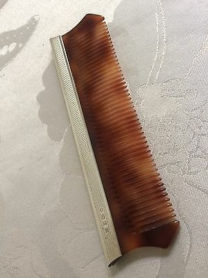 Vintage Hair Comb with Sterling Silver Trim - Birmingham 1991
