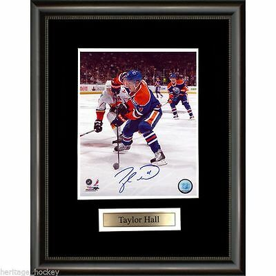 Taylor Hall Signed Edmonton Oilers Framed Photo