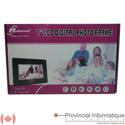 "7"" 7in LCD Digital Photo Frame Mediasonic VE-7101PF"