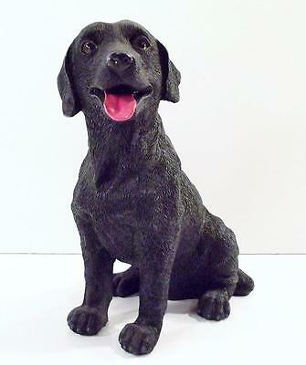 "Large BLACK LAB Resin Figurine ~ 8 1/2"" Tall"