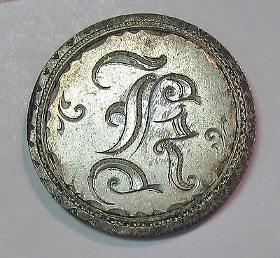 """1884  Seated Liberty Dime """"love Token"""" Initial """"k"""""""