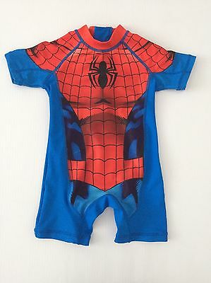Next Spiderman Sun Protection Swimsuit Size 12-18 Months