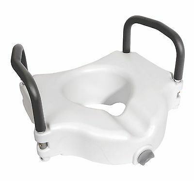 Locking Raised Toilet Seat w/Arms