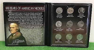 100 Years of American Nickels 1905 - 2006 Coin Set Collection PLUS FREE GIFT!