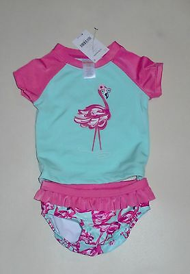 Gymboree Girls Flamingo Rashguard Swim Bathing Suit 12-18 18-24 2T 3T 4T 5T NWT