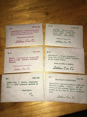 Coins & Banknotes - Lot. 6 packets from Littleton Coin Co.