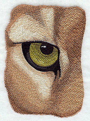 "Cougar Eye, Wild, Exotic Cat Embroidered Patch 4.8"" x 6.7"""