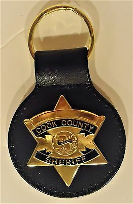 "Cook County Gold Color ""sheriff'""  Key, Ring"