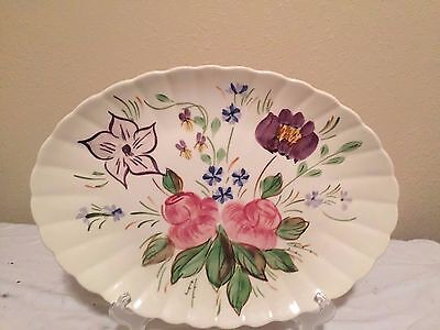 "Blue Ridge 15"" X 11 "" Rose Hill Platter on the ColoniaL Blank"