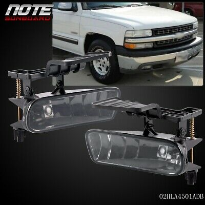 For 00-06 Chevy Suburban// Tahoe Clear Bumper Fog Lights Driving Lamps
