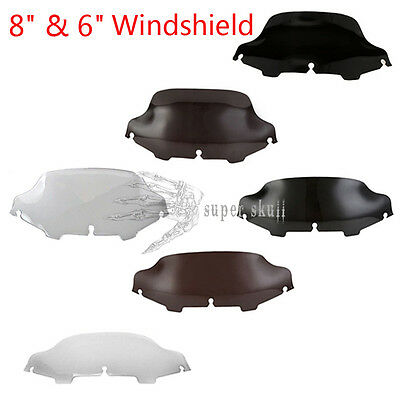 "6""/8"" Wave Windshield Windscreen For 1996-2013 Harley FLHT FLHTC FLHX Touring"