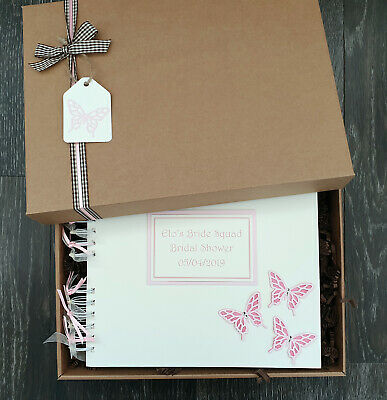 "Hen Party guest book 10""x8"" boxed scrapbook album photo memory personalised"
