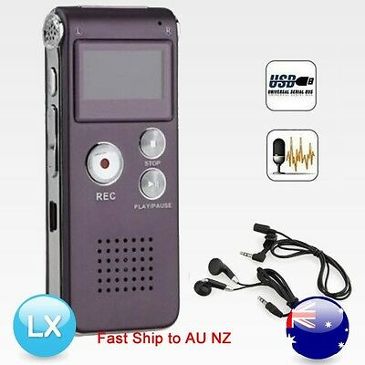 8GB 16GB New USB Digital Sound Voice Recorder Dictaphone MP3 Player Rechargeable