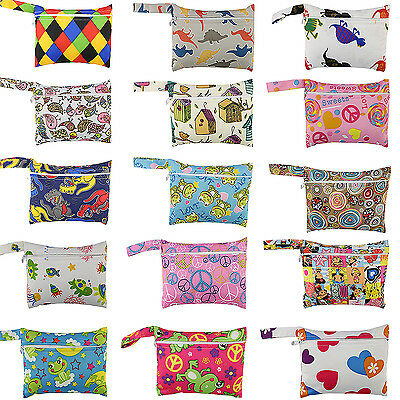 FI Baby Nappy Reusable Washable Wet Dry Cloth Zipper Waterproof Diaper Bags
