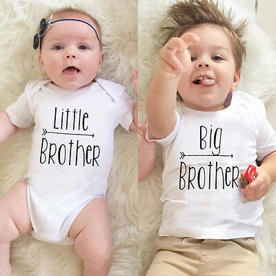 Fashion Little Brother Romper Bodysuit Big Brother T-shirt Cotton Clothes Outfit