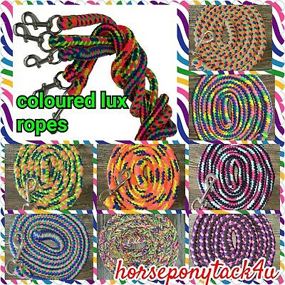 Luxe Multi Solid Or Coloured Texturised Leadrope 4 Headcollar 20 New Colours