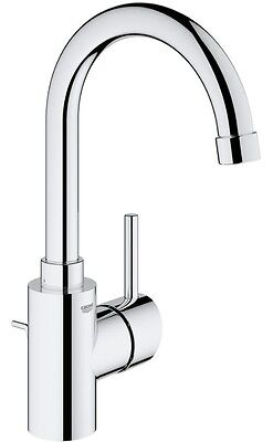 GROHE 32629001 Concetto Single Lever Basin Sink Mixer Tap with Pop Up Waste
