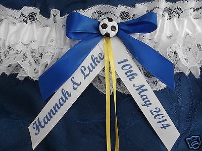 Personalised Football Wedding Brides Garter Leeds United Colours New In Box