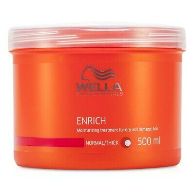 Wella Enrich Moisturizing Treatment For Dry & Damaged Hair (Normal/ Thick) 500ml