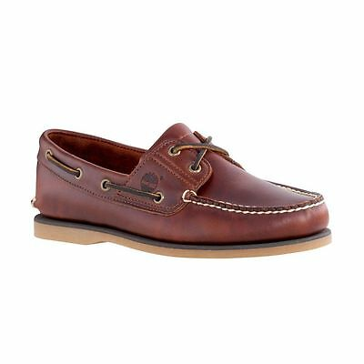 Mens Timberland Rootbeer Leather Deck Boat Lace Up Shoes,sizes 6.5-14.5 25077