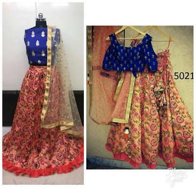 Designer Party Wear Wedding Indian Pakistani Saree Sari Bollywood Ethnic Lehenga