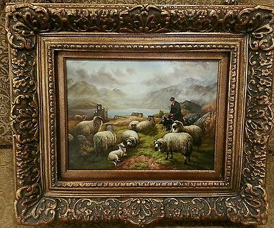 Beautiful oil on board painting signed w/frame and  Certificate of Authenticity