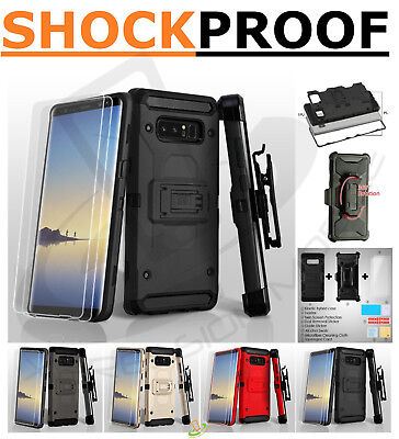 Samsung GALAXY J7 2017 Hybrid Impact Armor Rugged Case Cover Holster Screen +Kit