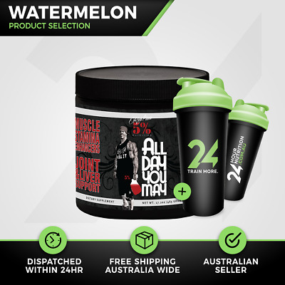 Rich Piana 5% Nutrition All Day You May | 30 Serve Watermelon | BCAA | Free Gift
