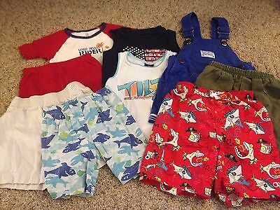 Boy's 9-piece lot summer clothing size 4T shorts tank tops swim trunks pjs