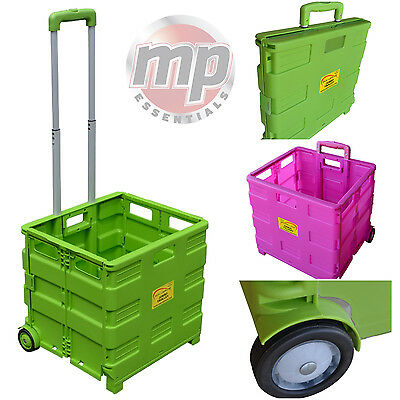 SunLeisure Heavy Duty Pack & Go Foldable Portable Shopping Transport Box Trolley