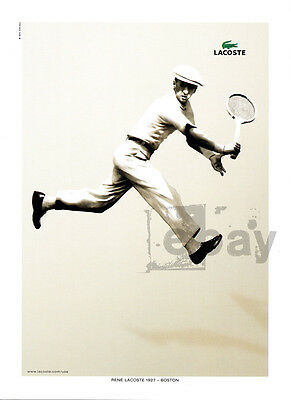Lacoste 1-page clipping ad Mar 2006 with 1927 photo of Rene Lacoste