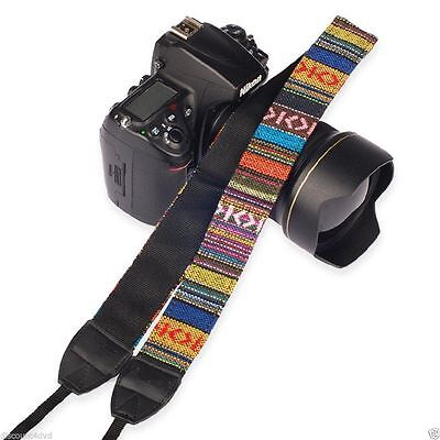 Vintage SLR DSLR Camera Shoulder Neck Strap Belt for Canon Nikon Pentax Sony UK