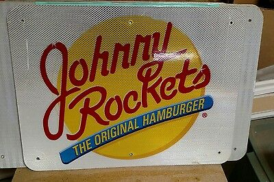 "JOHNNY ROCKETS Reflective Interstate Highway Sign 18"" X 24"" MAN CAVE"