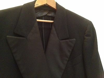 Vintage 1930-40's Tuxedo with Gros Grain Lapel Double Breasted Small Custom Made