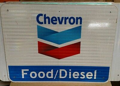 "CHEVRON Reflective Interstate Highway Sign 18"" X 24"" MAN CAVE"