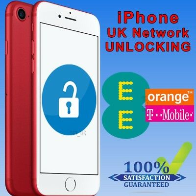 Factory Unlocking Service For iPhone 7 & 7 Plus - UK EE Orange Tmobile