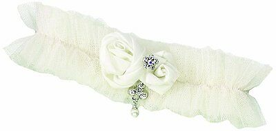 Tulle Jeweled Wedding GARTER, Ivory, by Lillian Rose