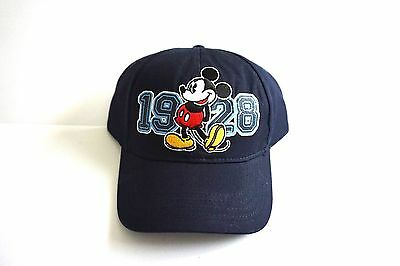 Disney Mickey Mouse Baseball 1928 Navy Youth Boys Boy Hat Cap