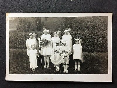 Vintage RPPC: Early 20c School Class #A97 May Queen 1924 Ravensthorpe