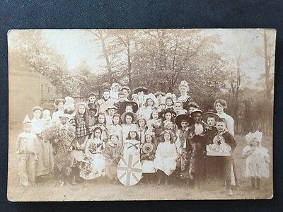 Vintage RPPC: Early 20c School Class #A102 Mixed Costumes Wakefield Yorkshire