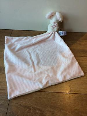 NEW Marks & Spencer M & S pink stripe cream Mouse Comforter Soother Blankie