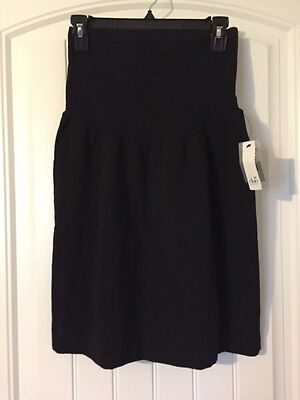 Duo Size Medium Short Black Maternity Skirt New With Tags