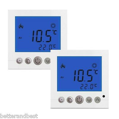 4x digital raumthermostat unterputz regler thermostat f r fussbodenheizung wei eur 50 19. Black Bedroom Furniture Sets. Home Design Ideas