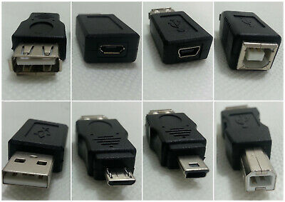 USB to Adapter female male 3.0 plug type A B micro mini switch ethernet C 3.1