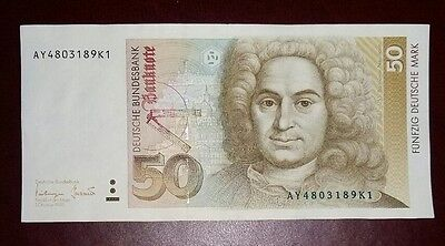 Banconota Germany 50 Deutsche Mark Decr 1993 Spl Sup