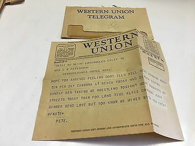 Western Union Telegram 1932 July 18Th Vintage Western Union Telegram & Envelope