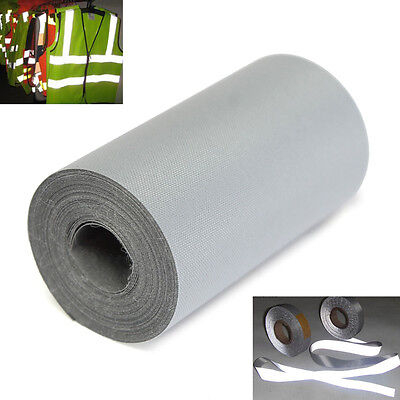3 Meter 5cm Reflective Silver Tape Safety Warning Sew On Wide Trim Fabric
